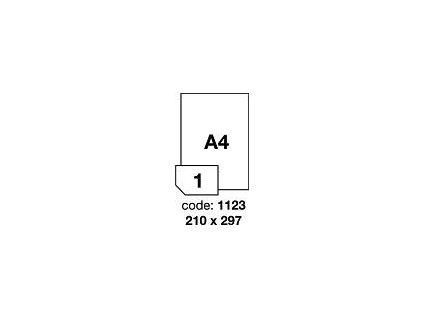 RAYFILM Štítky 210x297 univerzálne biele *R01001123A, 100 listů