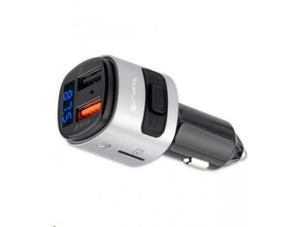 4smarts Bluetooth FM Transmitter s funkcí Quick Charge 3.0, černá