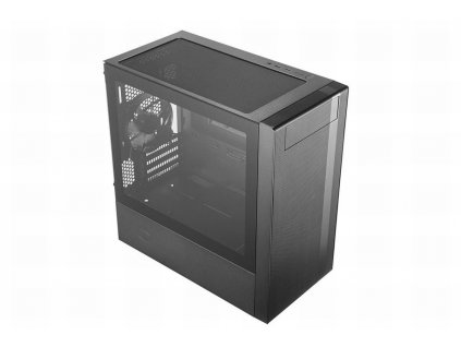 Cooler Master case MasterBox NR400, 2x USB3.0, Micro-ATX/Mini-ITX, Mini Tower, černá, bez zdroje