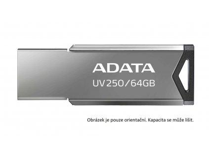 ADATA Flash Disk 32GB UV250, USB 2.0 Dash Drive, stříbrná