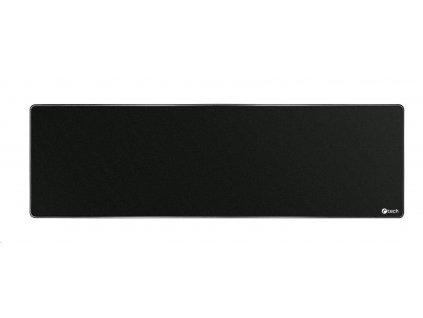 C-TECH Podložka pod myš MP-01XL, černá, 900x270x4mm, obšité okraje