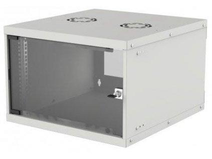 """Intellinet 19"""" BASIC rozvádzač 6U/400mm, šedý, rozložený flatpack"""