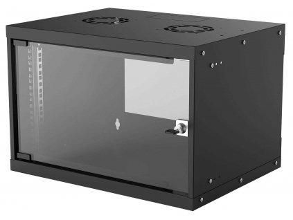 """Intellinet 19"""" BASIC rozvádzač 6U/560mm, čierny, rozložený flatpack"""