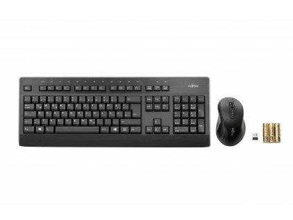 FUJITSU Klávesnice a myš bezdrátový set - LX960 CZ/SK - Wireless KB Mouse Set - tichá klávesnice, myš i pro sklo.