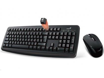 GENIUS klávesnice s myší Smart KM-8100/ Bezdrátový set 2,4GHz mini receiver/ USB/ černá/ CZ+SK layout/ SmartGenius App