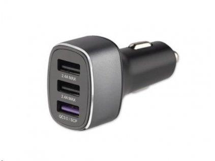 4smarts nabíječka do auta VoltRoad 7P+ Fast Charge, 3x USB, 3,6 A, černá