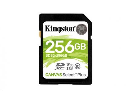 Kingston 256GB SecureDigital Canvas Select Plus (SDXC) 100R 85W Class 10 UHS-I