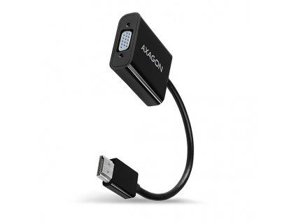 AXAGON RVH-VGAN, HDMI -> VGA redukce / adaptér, FullHD, audio výstup, micro USB nap. konektor