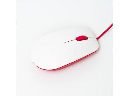 Raspberry Pi myš, USB, malinová/bílá