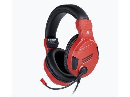 Bigben herní sluchátka s mikrofonem - červené