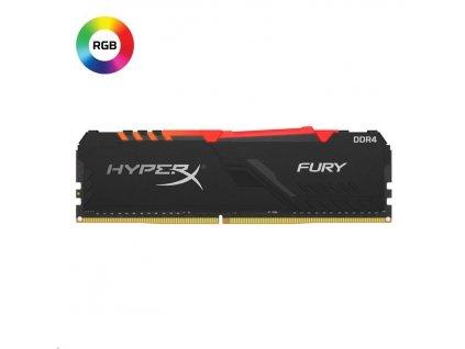 DIMM DDR4 8GB 3733MHz CL19 KINGSTON HyperX FURY Black RGB (High speed)