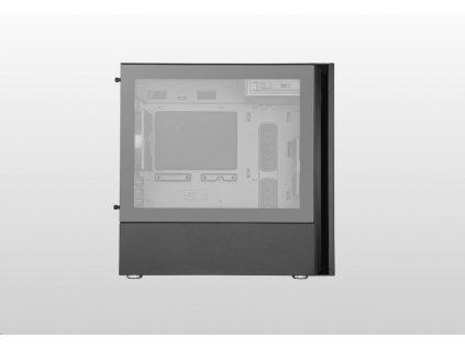 Cooler Master case Silencio S400 Tempered Glass, micro-ATX, Mini Tower, černá, bez zdroje