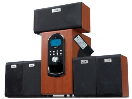GENIUS repro SW-HF 5.1 6000 Ver. II/ 5.1/ 200W/ Dřevěné/ Dálkový ovladač
