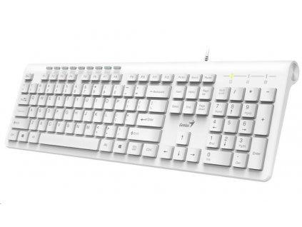 GENIUS klávesnice Slimstar 230/ Drátová/ USB/ bílá/ CZ+SK layout