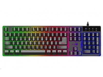 GENIUS GX GAMING Scorpion K8/ drátová/ podsvícená/ USB/ černá/ CZ+SK layout