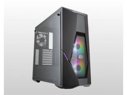 Cooler Master case MasterBox K500 aRGB, ATX, Mid Tower, černá, bez zdroje
