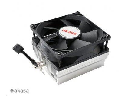 AKASA chladič CPU AK-CC1107EP01 pro AMD socket 754,939,940, AM2, low noise, 80mm PWM ventilátor