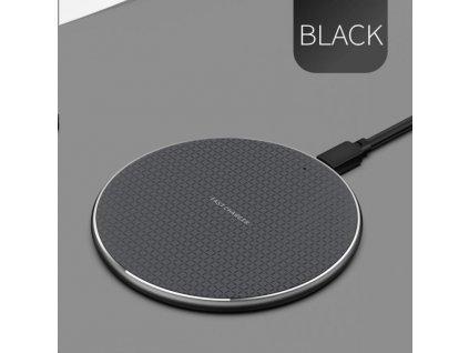 1stCOOL bezdrátová hliníková QI rychlo nabíječka 5W 7,5W 10W Black