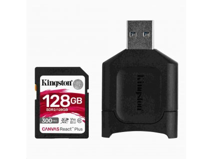 Kingston 128GB SDXC React Plus SDR2 + MLP SD čtečka