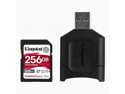Kingston 256GB SDXC React Plus + čtečka