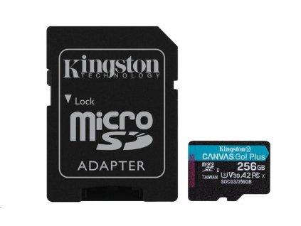 Kingston 256GB microSDXC Canvas Go Plus 170R A2 U3 V30 Card + ADP