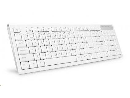 CONNECT IT Multimediální bezdrátová klávesnice, (+2x AAA baterie zdarma), CZ + SK verze, bílá