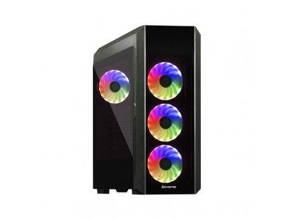 CHIEFTEC skříň Miditower Gaming SCORPION 3 Black, 2 x USB 3.0/1x USB 2.0, bez zdroje