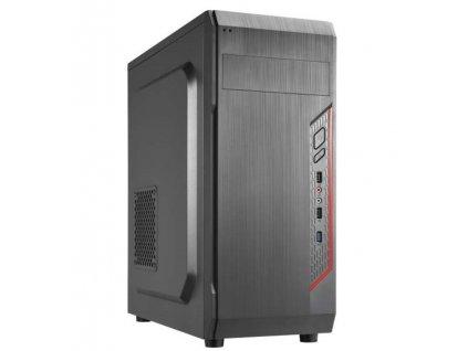 CRONO skříň MT-X5 - MidiTower bez zdroje, 1xUSB 3.0, 2xUSB 2.0, 2x3.5HDD slot, 3x2.5HDD slot