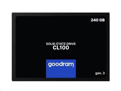 "GOODRAM SSD CL100 Gen.3 240GB SATA III 7mm, 2,5"" (R: 520MB/s; W 400MB/s)"