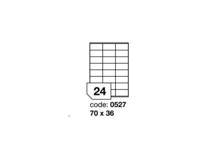 RAYFILM Matné bíle PE laser etikety *R0503.0527B