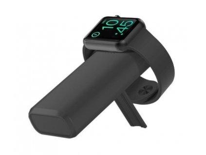COTEetCI Černá bezdrátová nabíjecí powerbanka PB-2 s kapacitou 5200 mAh pro Apple Watch