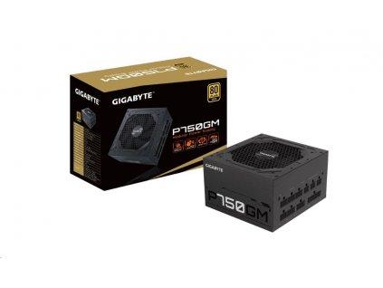 GIGABYTE zdroj P750GM, 750W, 80plus gold, modular, 120 mm fan