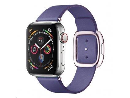 COTEetCI kožený magnetický řemínek Nobleman pro Apple Watch 42 / 44mm fialová