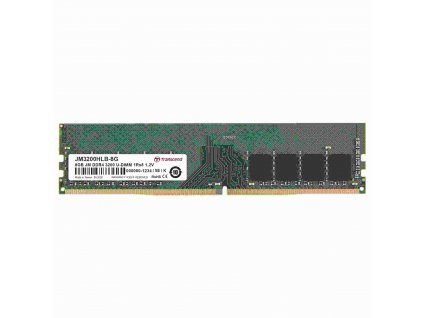 DIMM DDR4 8GB 3200Mhz TRANSCEND U-DIMM 1Rx8 1Gx8 CL22 1.2V