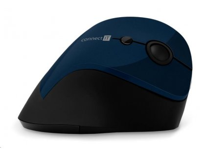 CONNECT IT FOR HEALTH ergonomická vertikální myš, (+ 1x AA baterie zdarma), bezdrátová, modrá