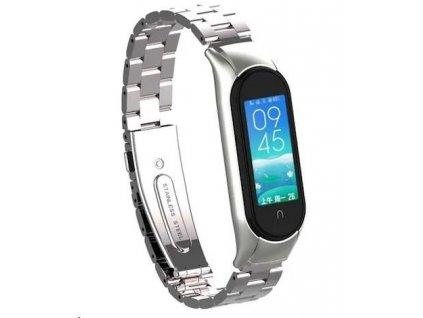 eses kovový řemínek stříbrný pro Xiaomi Mi Band 5