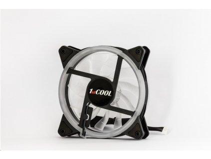 1stCOOL ventilátor AURA RAINBOW Dual Ring ARGB1, 12 cm