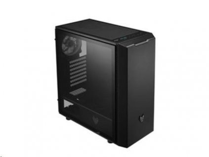Fortron skříň Midi Tower CMT350 Black, průhledná bočnice, 1 x A. RGB LED 120 mm ventilátor