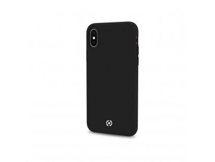Celly silikonový zadní kryt Feeling pro iPhone XS Max, černá