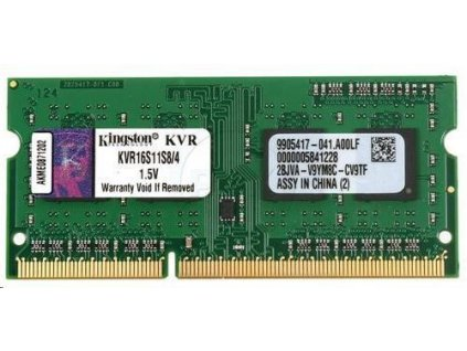 SODIMM DDR3 4GB 1600MHz CL11 SR X8, KINGSTON ValueRAM