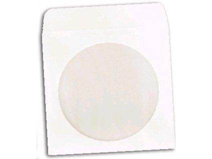 Papierová obálka s okienkom na 1CD, 100ks bal. s lepiacou záložkou