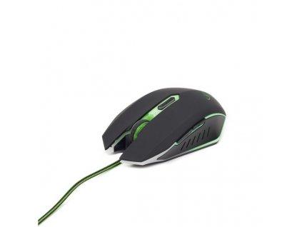 GEMBIRD myš MUSG-001-G optická, zeleno-černá, 2400 dpi, USB