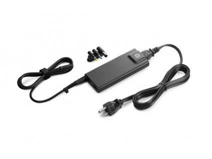 HP 90W Slim AC Adapter with USB - ADAPTER - koncovka pro českou zástrčku