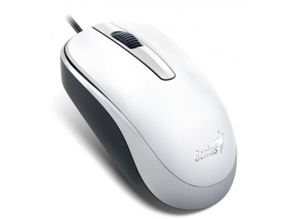 GENIUS myš DX-120, drátová, 1200 dpi, USB, bílá
