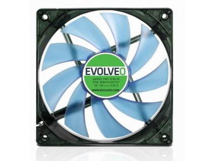 EVOLVEO 12L1BL ventilátor 120mm, 4 LED modrý, 3pin