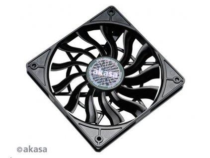 AKASA ventilátor Slimfan, 120 x 15mm, kluzné ložisko, pro HTPC systémy, PWM 4pin