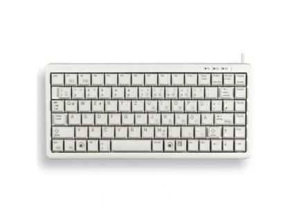 CHERRY klávesnice G84-4100 COMPACT KEYBOARD, lehká, USB, EU, bílá
