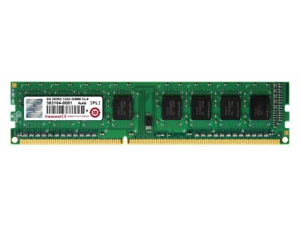 DIMM DDR3 2GB 1333MHz TRANSCEND 1Rx8 CL9