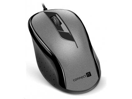 CONNECT IT Optická myš, USB, šedá