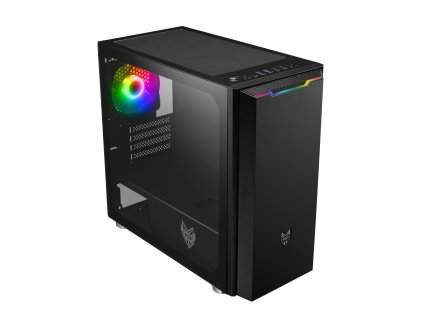FSP/Fortron ATX Micro CST310 Black, průhledná bočnice, 1 x A. RGB LED ventilátor